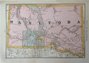 Map of Manitoba - Canada