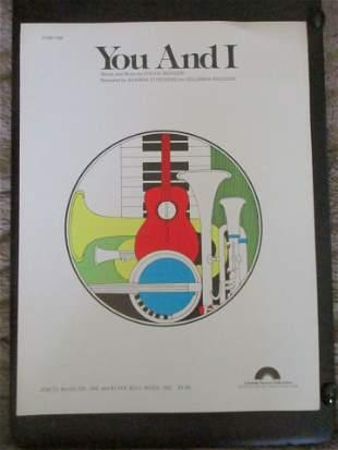 You and I - Stevie Wonder Sheet Music