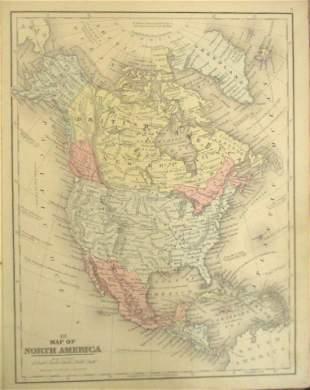 Map of North America Plus Canada