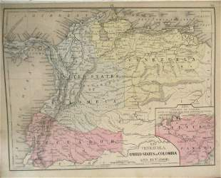Map of Columbia Peru & Bolivia