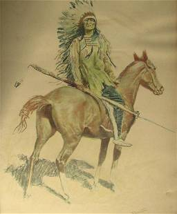 Frederic Remington   A Bunch of Buckskins: A Sioux