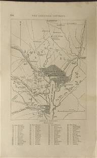 Map of Defenses of Washington Civil War