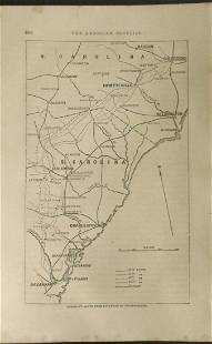 Sherman's Route From Savannah to Goldsborough
