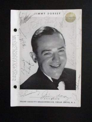 Jimmy Dorsey Plus Signed Photo from Meadowbrook