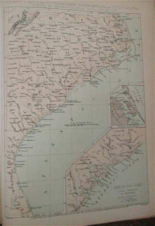 Map of the Atlantic Coast Southern States