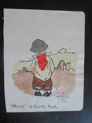 Avin Is Photo Took - Watercolor 1917
