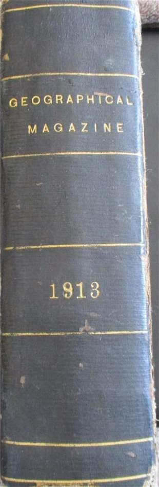 National Geographic 1913 Full Year Bound Rare