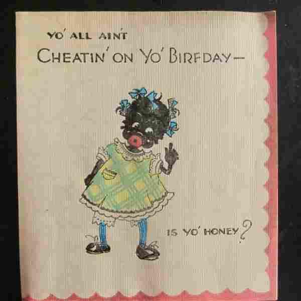 Cheatin On Yo Birfday - Black Silk Birthday Card