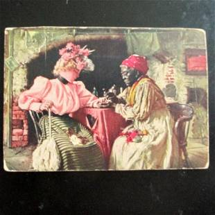 Black Fortune Teller with Victorian Lady