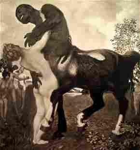 Franz Von Stuck - Centaur and Nymph