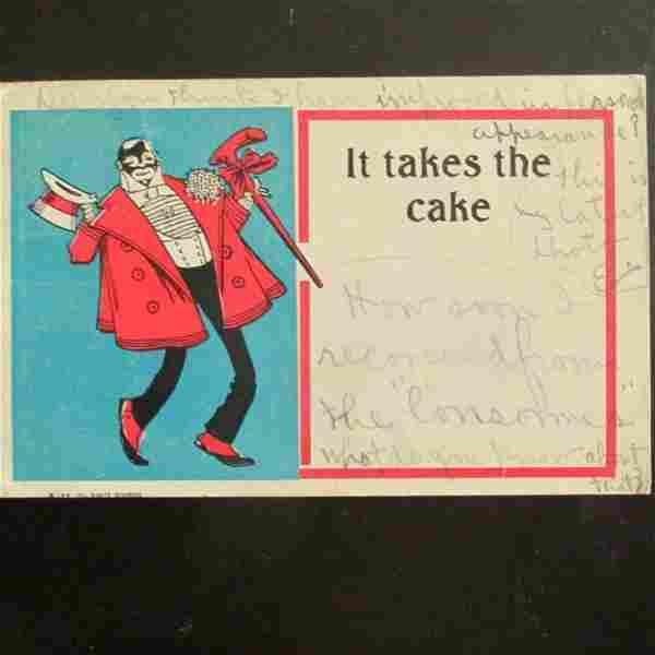 It Takes The Cake - Black Americana Postcard