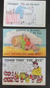 Rare Group of 18 Breweriana Postcards