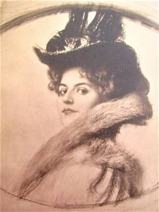 Franz Von Stuck - Portrait Study