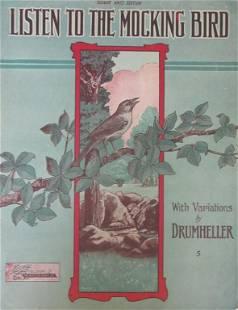 Listen To The Mocking Bird [Sheet Music 1908]