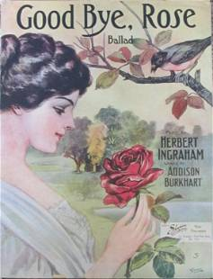 Good Bye Rose [Sheet Music 1910]