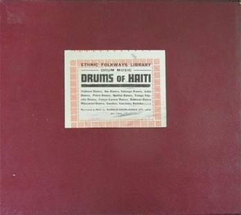 Drums of Haiti (Rare 78 Record Set)
