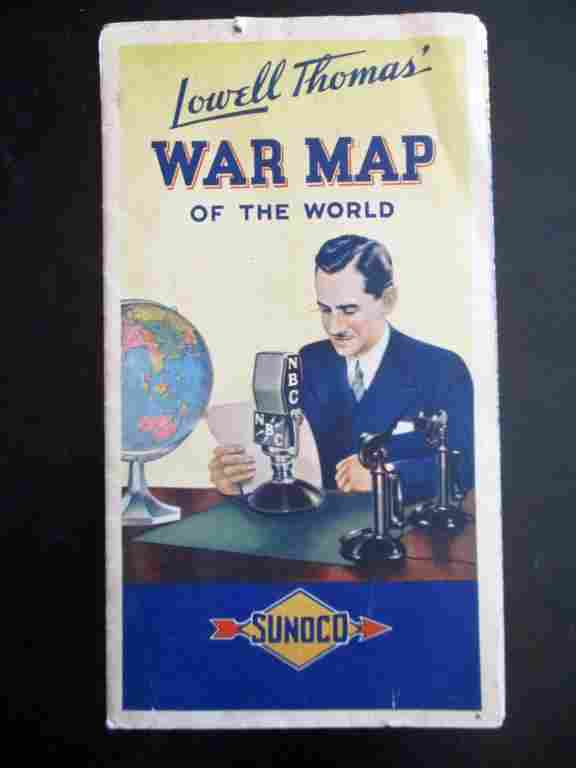 Lowell Thomas War Map - World War Two