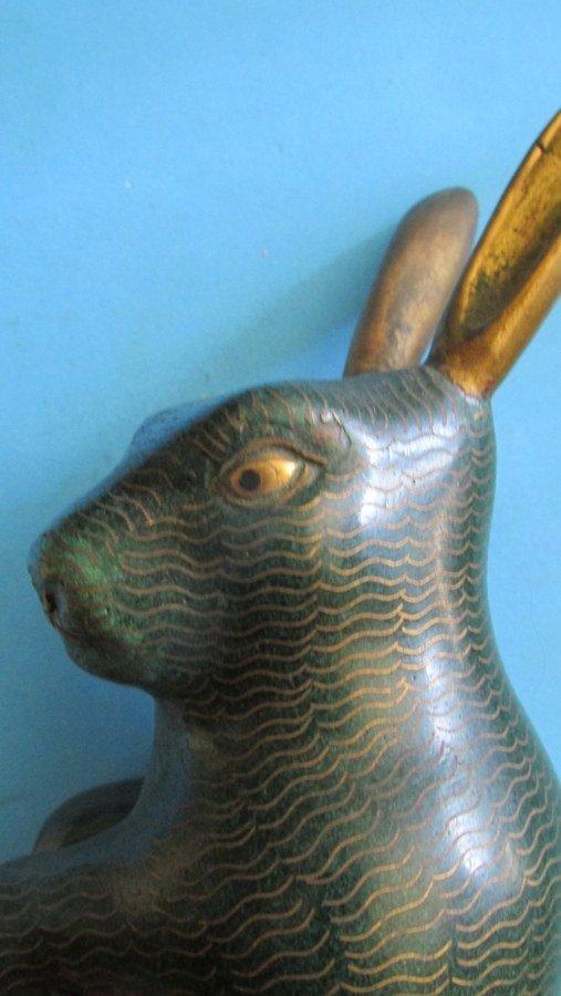 Chinese Cloisonne Rabbit - 5