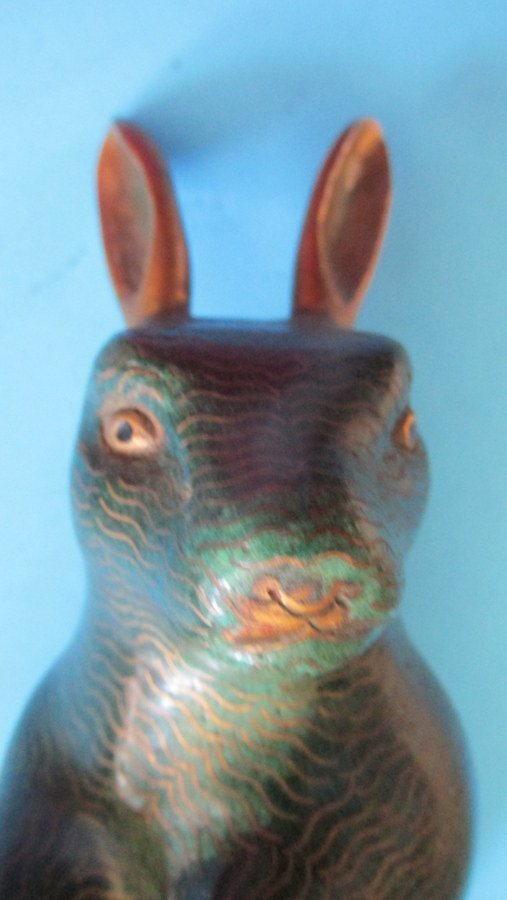 Chinese Cloisonne Rabbit - 8