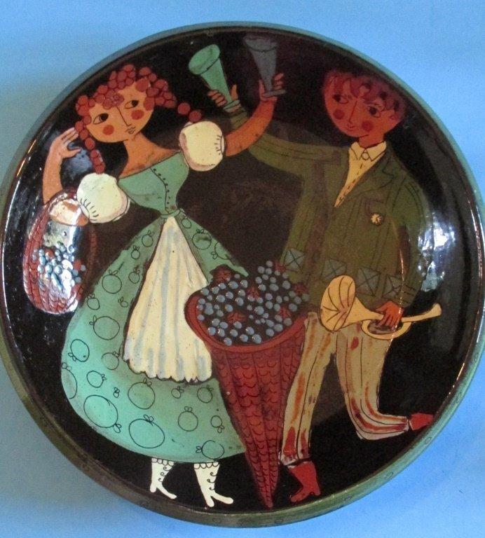 Folk Art Pottery Bowl Signed