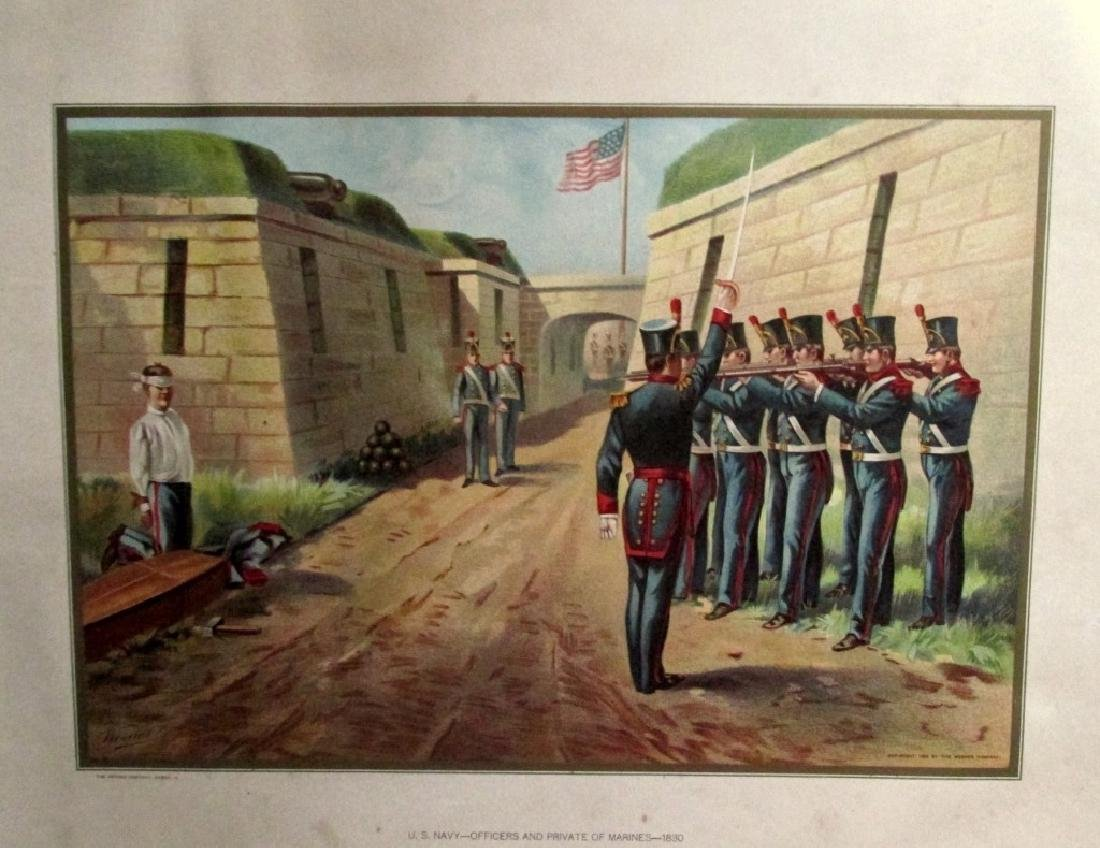 United State Navy Officers & Private Marines 1830