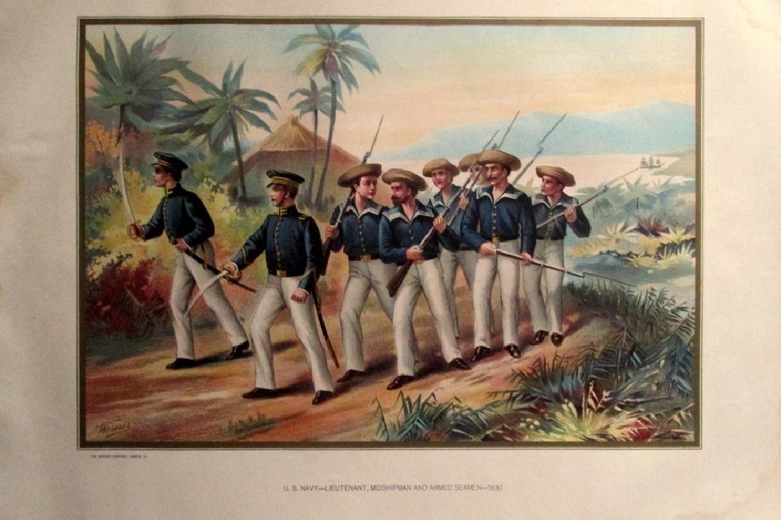 US Navy Lieutenant Midshipman Seamen 1830