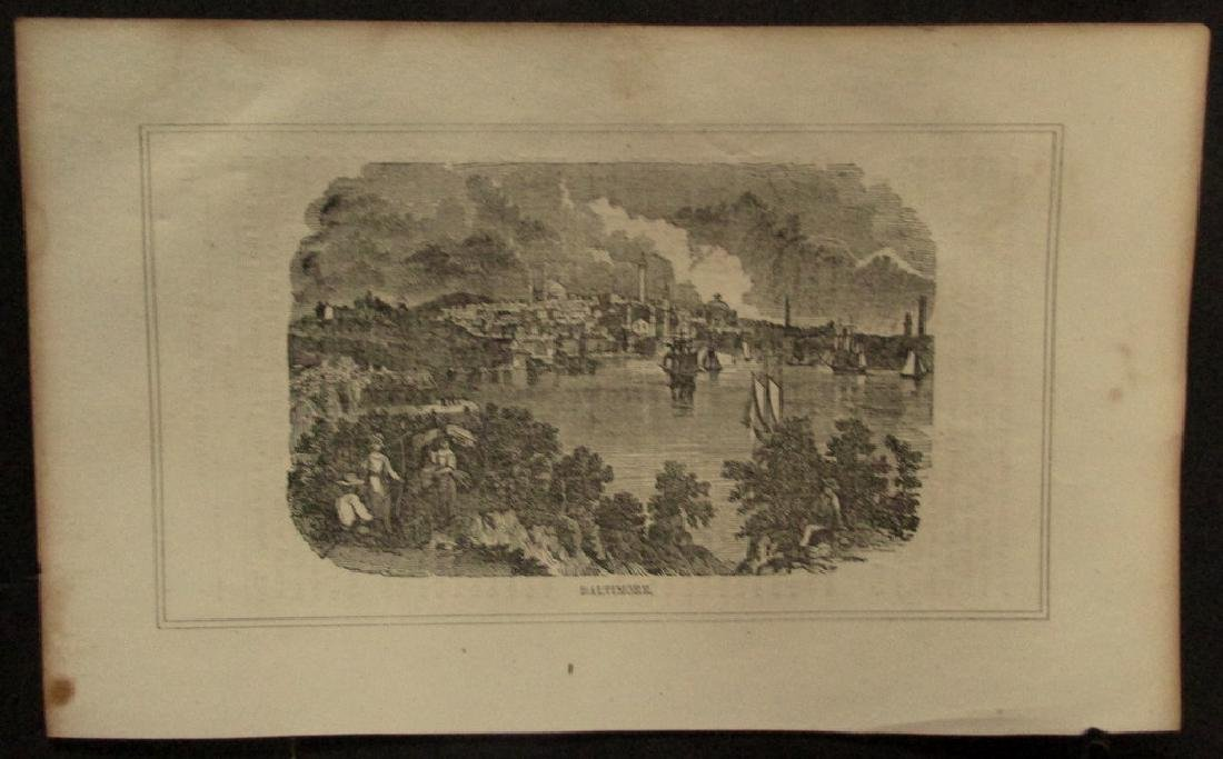 Early American Engraving of Baltimore Maryland