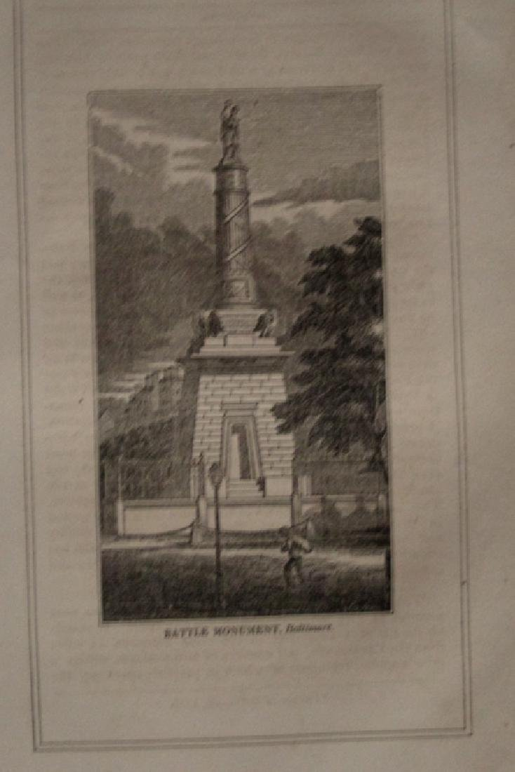 Early Engraving of Battle Monument Baltimore