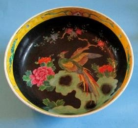 Chinese Porcelain Famille Noire Center Bowl