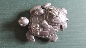 Turtle Earring Brooch Set & Another Brooch