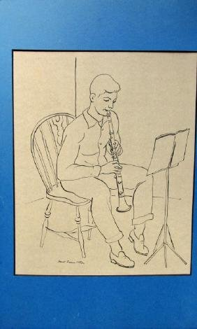 The Clarinet Player ~ Ernest Fiene 1959