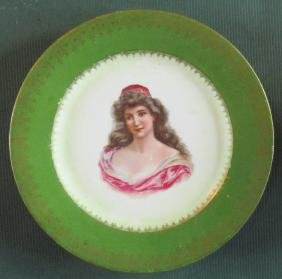 Lady In Red - Royal Vienna Plate