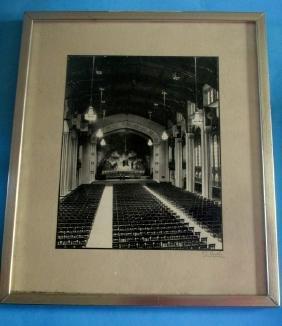 Fay S. Lincoln Silver Print - Auditorium