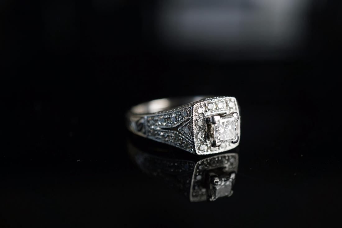 14k WG Art Deco Diamond Ring