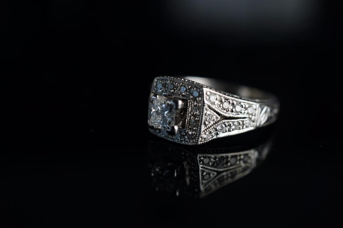 14k WG Art Deco Diamond Ring - 3
