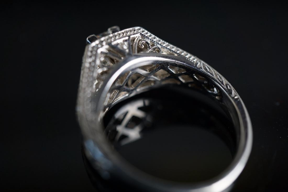 14k WG Art Deco Diamond Ring - 5