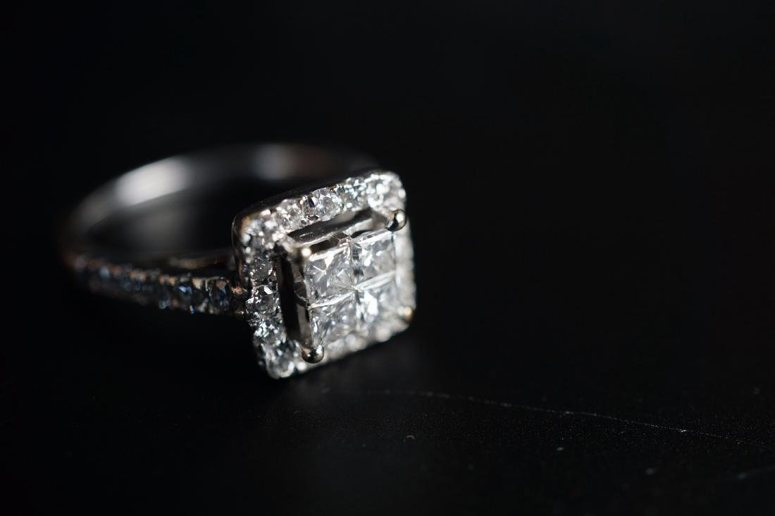 14k WG  Diamond Engagement Ring