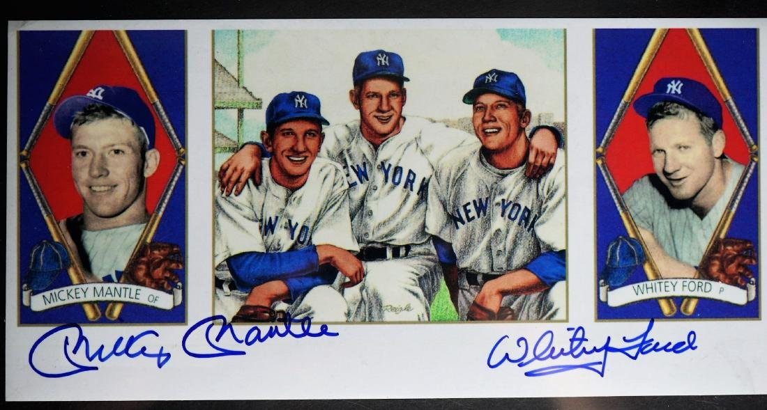 Mickey Mantle and Whitey Ford Signed Photo