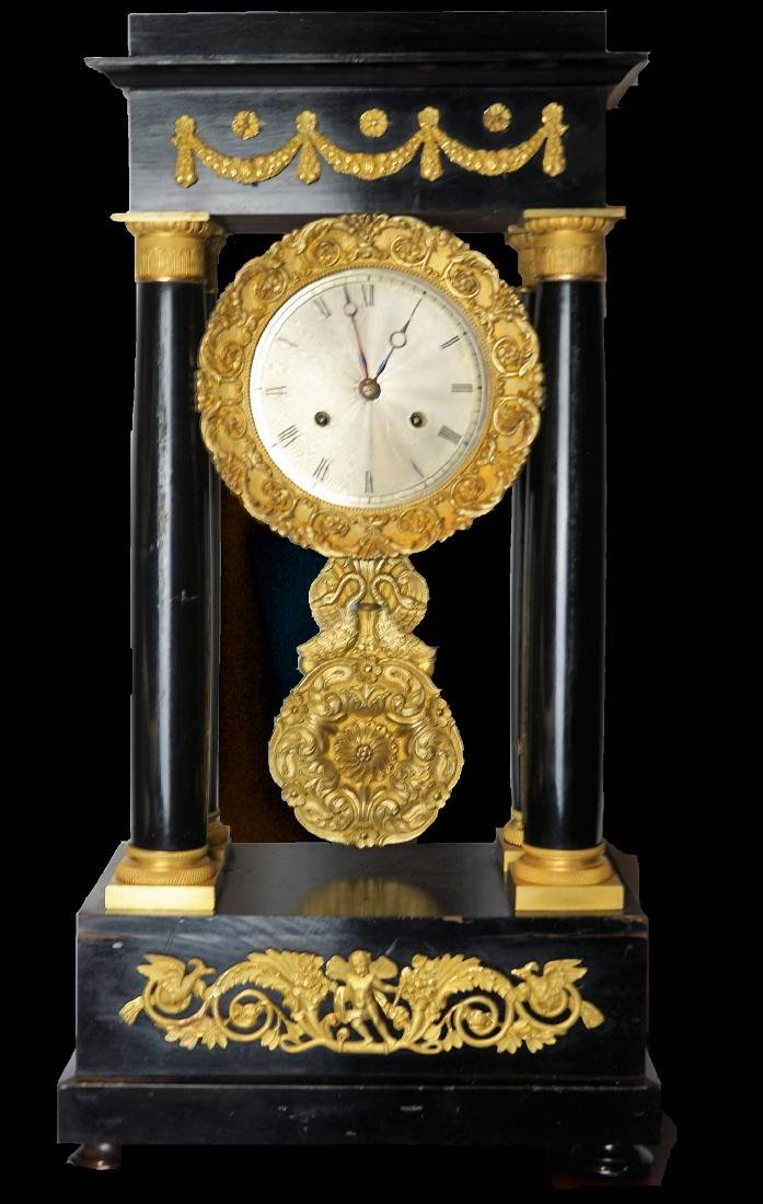Rococo style Veneer Clock