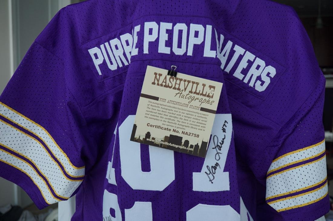 Purple People Eater Signed Jersey with JSA COA - 10