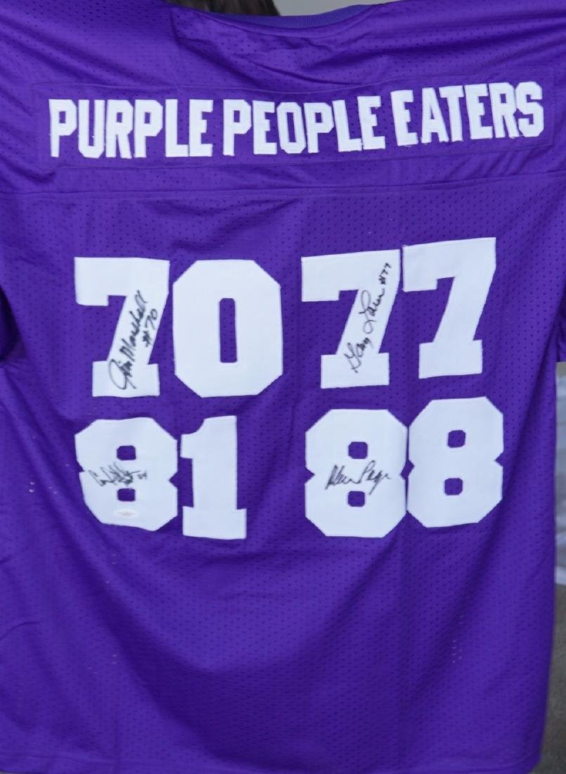 Purple People Eater Signed Jersey with JSA COA