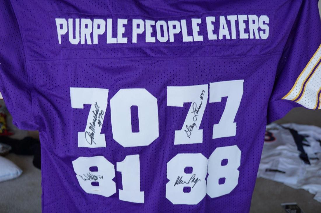 Purple People Eater Signed Jersey with JSA COA - 2