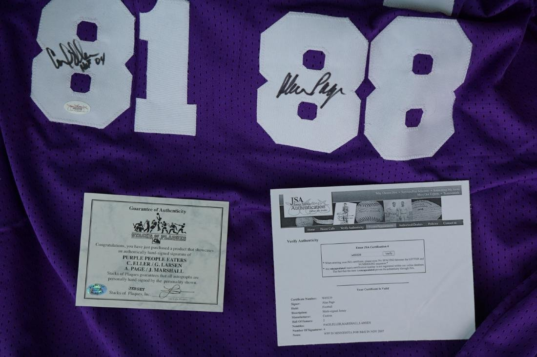 Purple People Eater Signed Jersey with JSA COA - 7