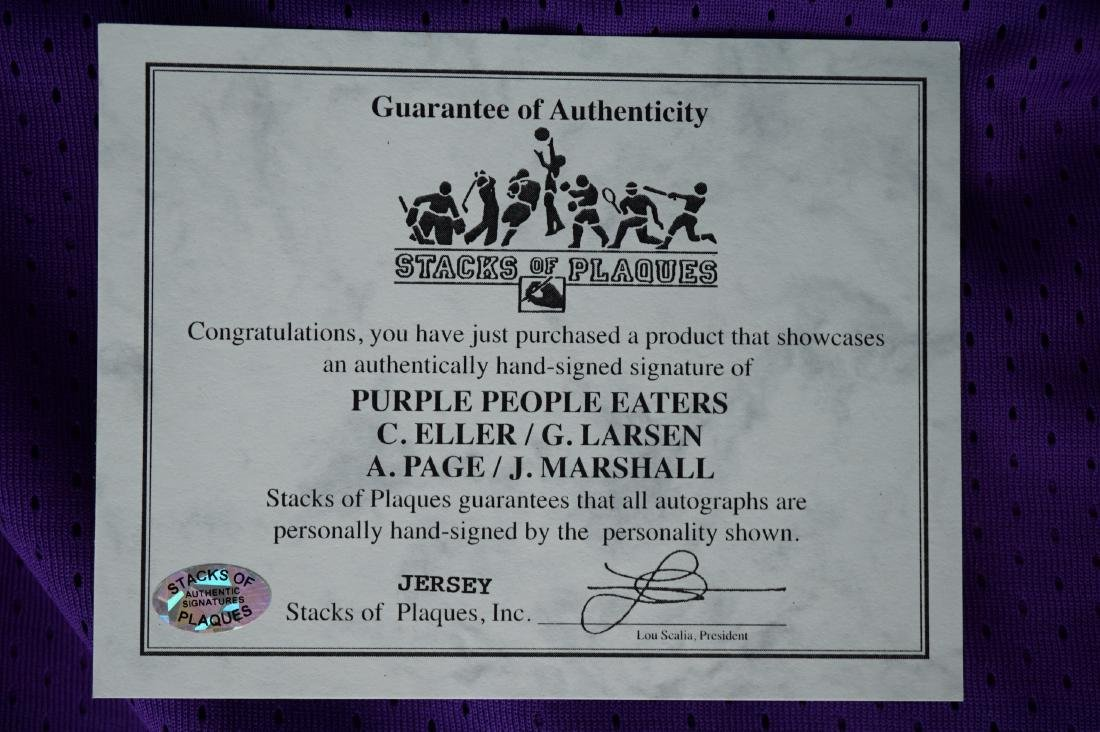 Purple People Eater Signed Jersey with JSA COA - 8
