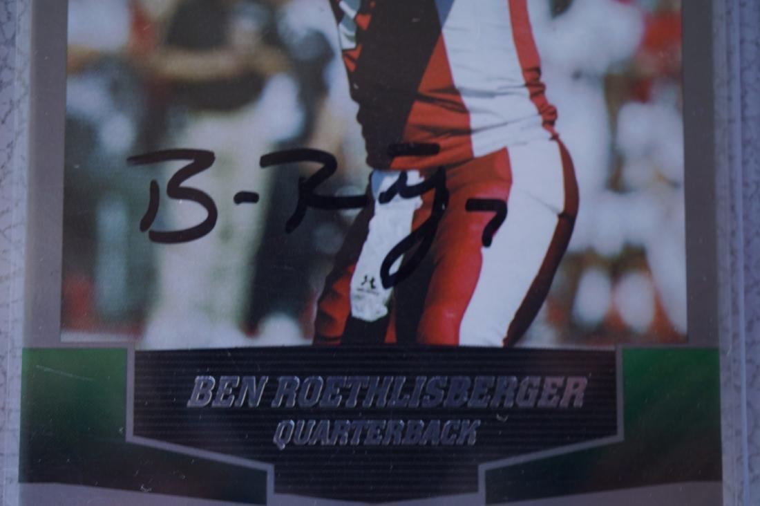 Signed Ben Roethlisberger College Rookie Card - 2