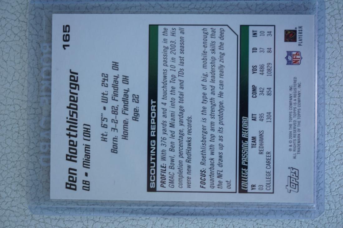 Signed Ben Roethlisberger College Rookie Card - 3