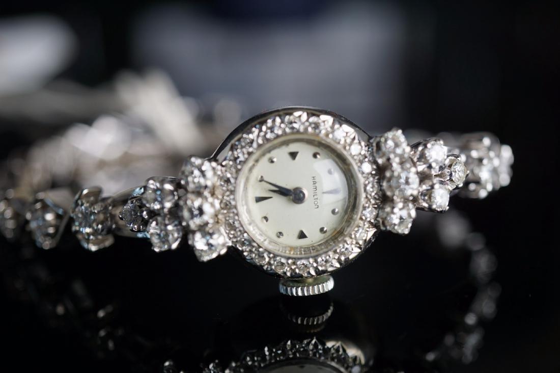 Ladies Hamilton 14k White Gold & Diamond Watch