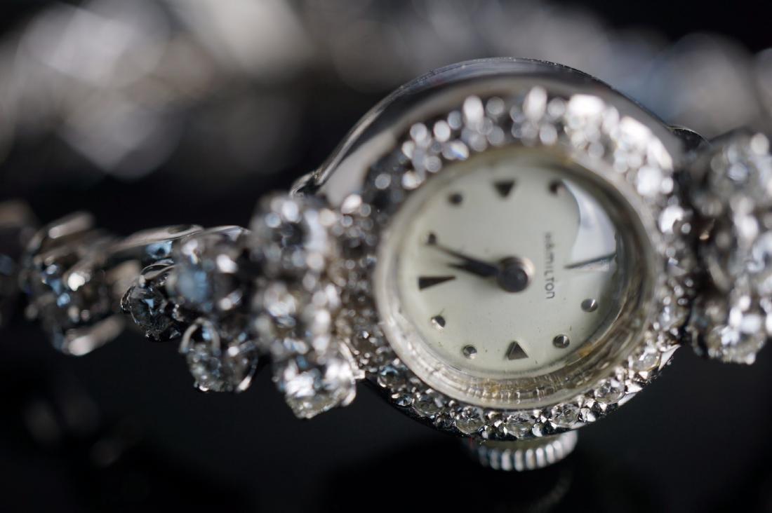 Ladies Hamilton 14k White Gold & Diamond Watch - 2