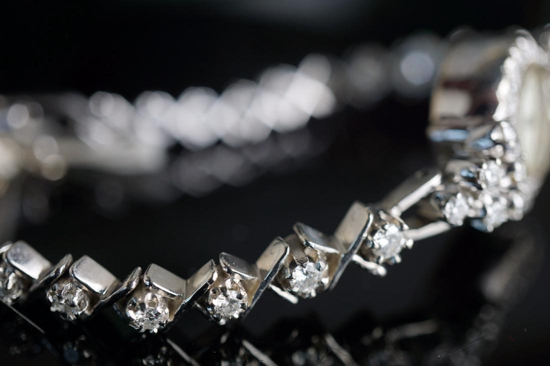 Ladies Hamilton 14k White Gold & Diamond Watch - 3