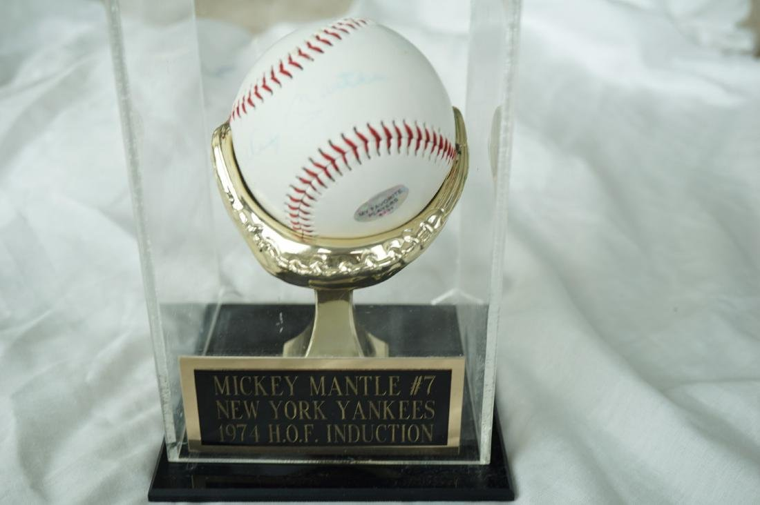 Signed Mickey Mantel in Case With COA - 4